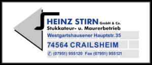 Heinz Stirn Stukkateur